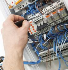 Installation of a distribution board